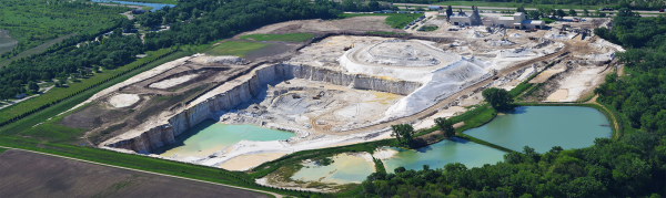 US Silica's North Utica frac sand mine. North Utica, IL.