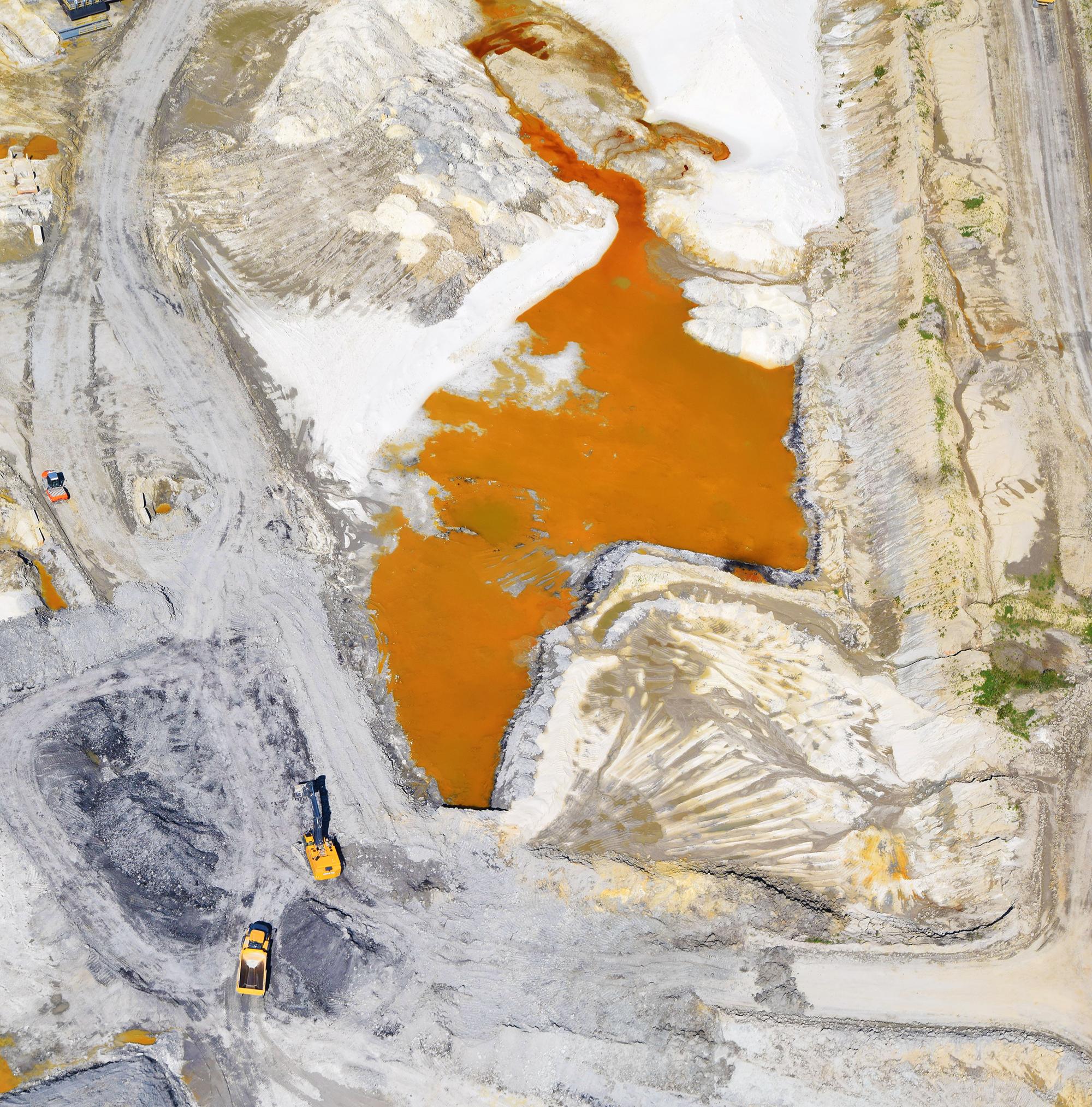Wastewater pond at Northern White Sands frac sand mine. Ottawa, IL.