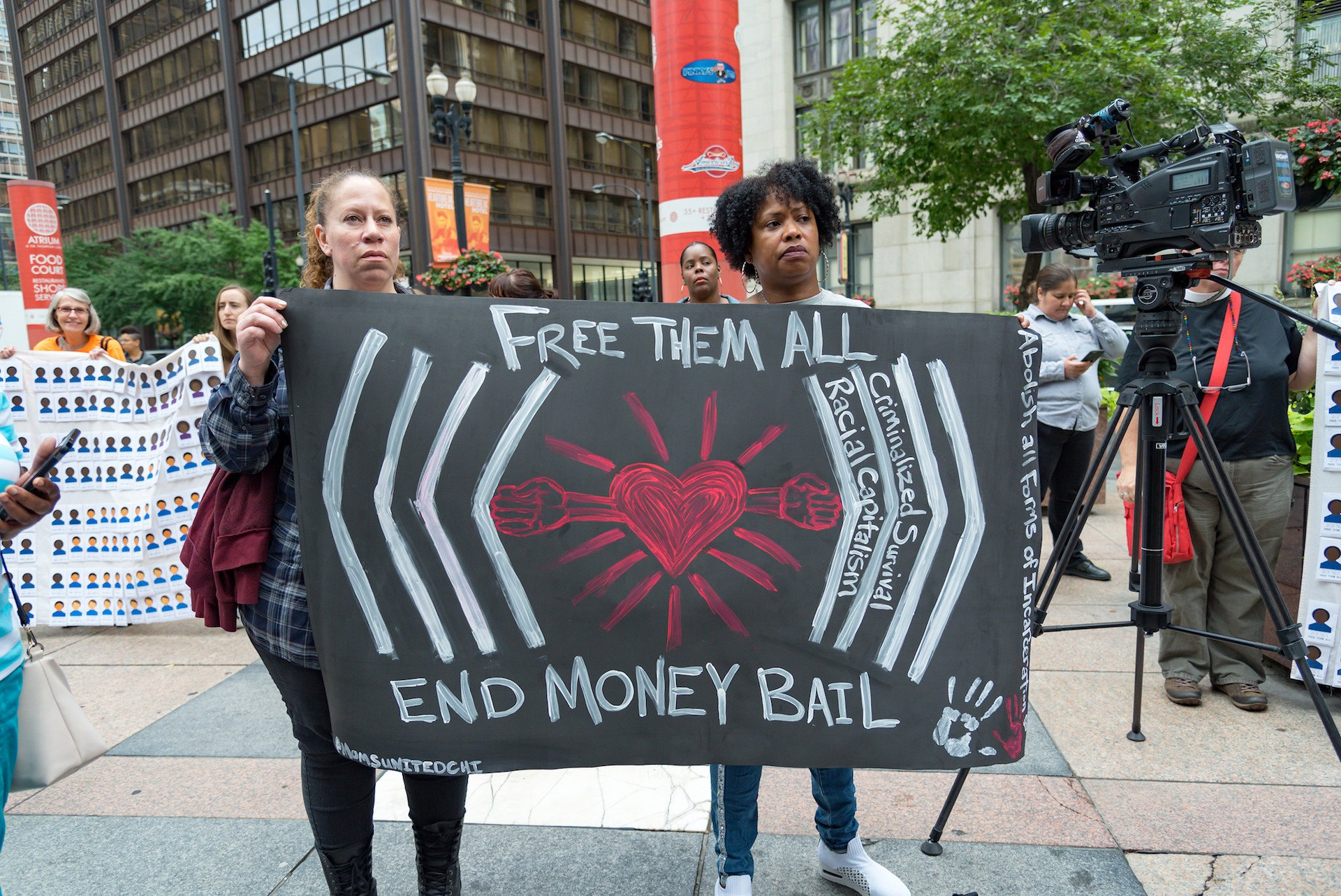 From the Rally to #EndMoneyBail. Image by Sarah-Ji.