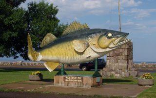 Braunschweiger - Walleye Statue Garrison, MN
