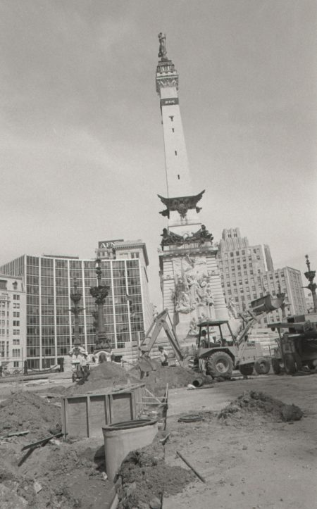 Monument Circle Construction, 1978