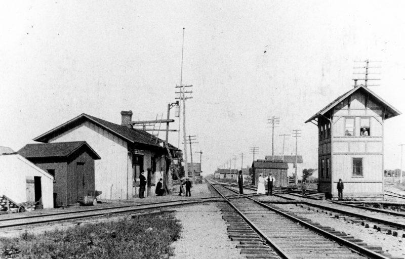 Crossing in Miller, 1889