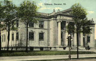 Decatur Carnegie Library Postcard