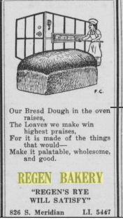 Regen's Bakery ad