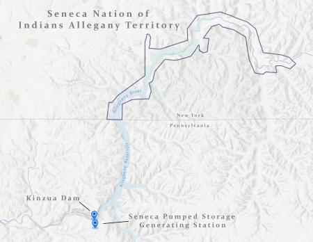 Kinzua Dam Map