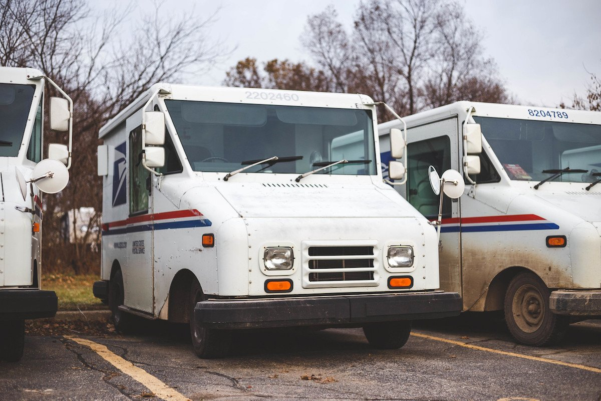 Mail trucks in Oxford, Michigan