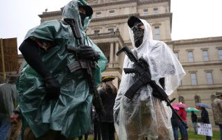 Michigan Capitol Building armed protesters