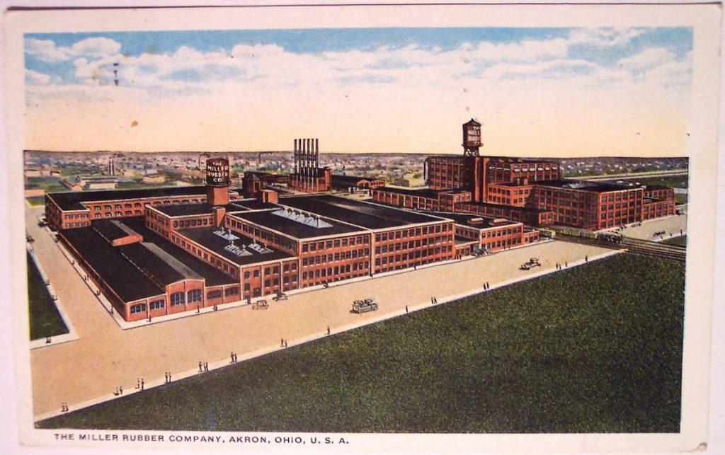 Miller Rubber postcard - Akron