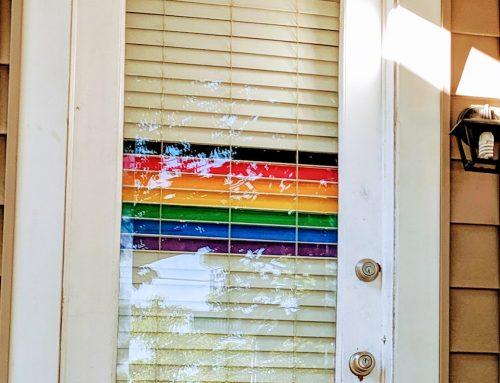 A History of the Pride Flag in My Doorway