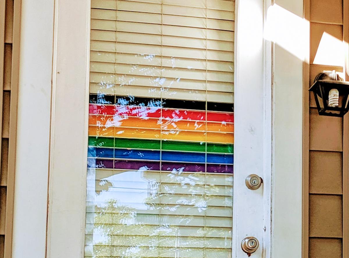 Pride Flag Door