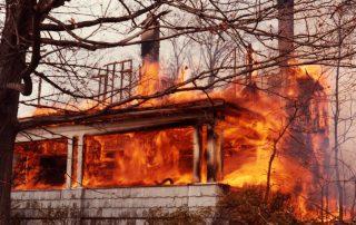 Ohio House on Fire