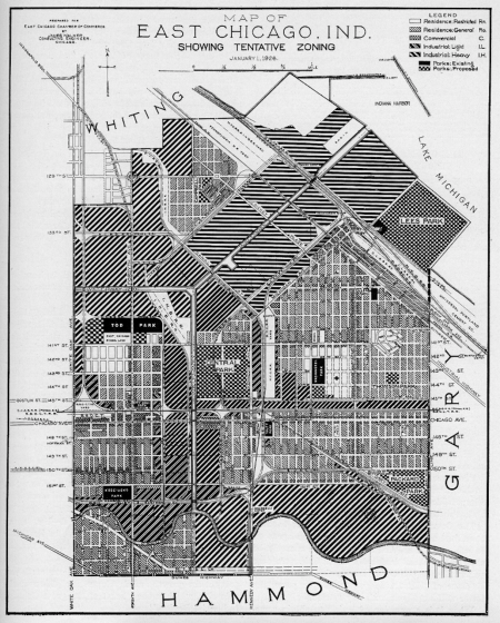 East Chicago Map, 1927