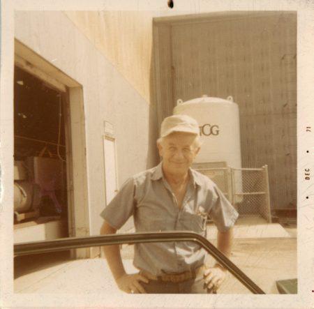Bob Zeni's father, 1971