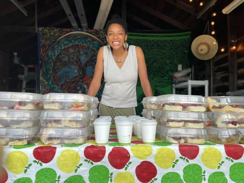 Dazmonique Carr of Deeply Rooted Produce at Sunday Dinner